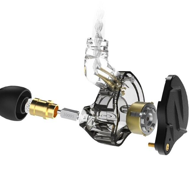 KZ ZSN Pro X Metal Earphones 1BA+1DD Hybrid technology HIFI Bass Earbuds In Ear Monitor Headphone Sport Noise Cancelling Headset 4