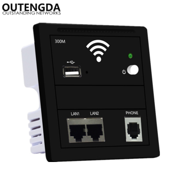 In Wall Access Point Wireless AP Wifi Router 220v/POE Indoor WiFi USB Charge 86-type panel