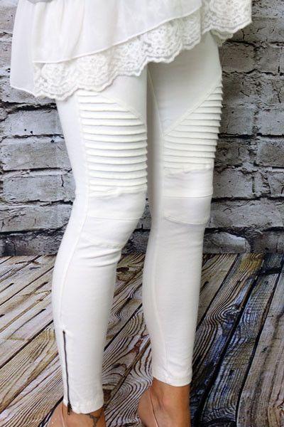 Europe America Moto Biker Jeans Women Cotton Washed Vintage Pleated Pencil Pants Femme Zipper High Elasticity Skinny Trousers 4