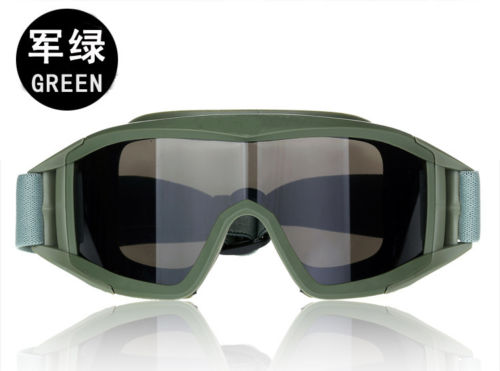 Tactical Swat Military Paintball 3 Lens  PCP Eye Wear Eye Protection Goggle Mask