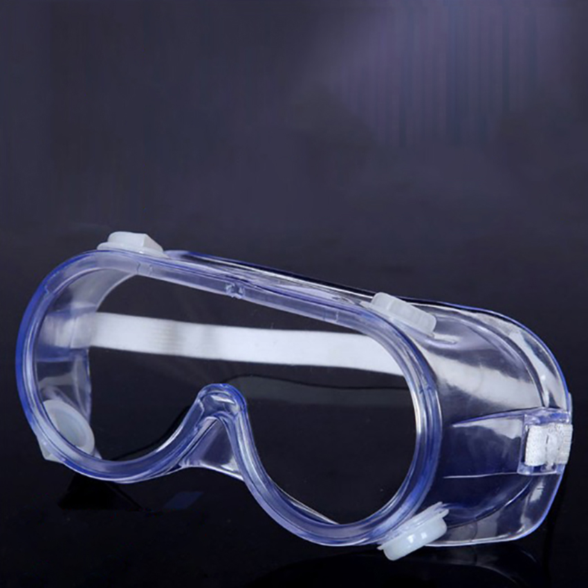 Clear Safety Glasses, Full Frame, Adjustable Elastic Headband, Work Protective Glasses Anti-Fog Windproof For Industrial Protect