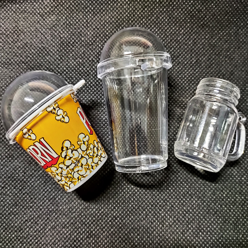 5pcs/lot Corn Cup Drink Bottle Shaker Molds Plastic Jewelry Tools For Making Drink Cup UV Resin Epoxy Jewelry Accessories