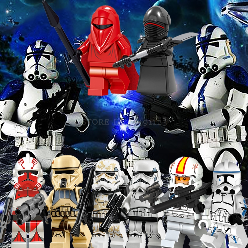 HOT Star Wars Army Figures Building Blocks Clone Trooper Humid Beast Figure