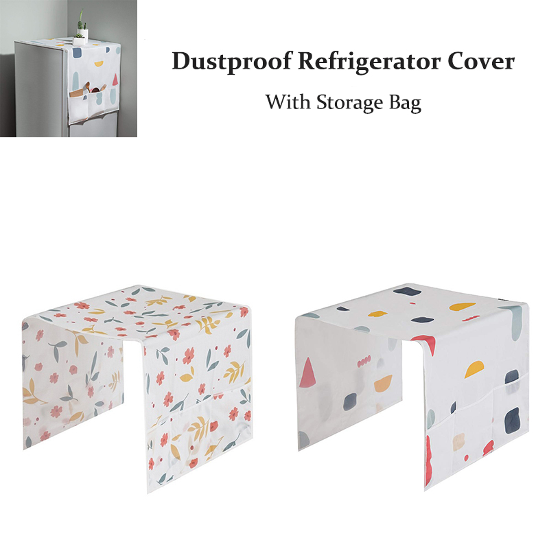 Waterproof  Machine Coat Dustproof Refrigerator Cover European Pattern Sun Dust Protection Case With Bags Household Accessories
