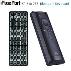 IPazzPort podświetlana Mini bezprzewodowa klawiatura Bluetooth dla XiaoMi Box3 obsługa systemu Windows Mac OS Linux z systemem android