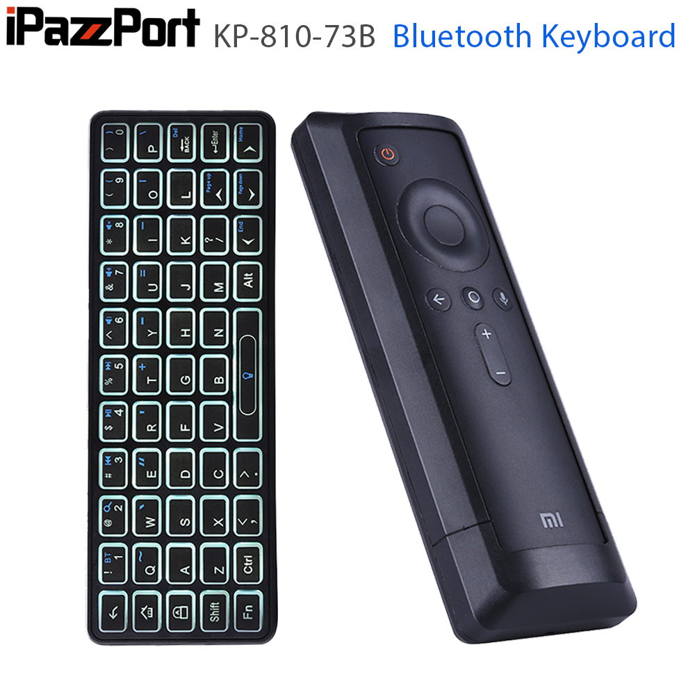 iPazzPort Backlit Mini Wireless Bluetooth Keyboard for XiaoMi Box3 Support Windows Mac OS Linux Android OS image