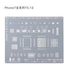 T0.12 тонкий IC BGA трафарет завод олово для iPhone 5 6 6S 7 ремонт мобильного телефона с японской специальной стальной лазерной технологией резки