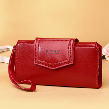 2020 Women Wallets Three-Fold Fashion Long Leather Clutch bag Card Holder Classic Purse Zipper Brand Wallet For Women Carteira long wallet women brand designer portefeuille femme genuine leather clutch women wallets fashion carteira feminina day clutches