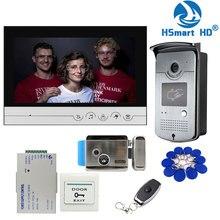 جديد سلكي 9 بوصة فيديو باب الهاتف نظام الدخول الداخلي 1 مراقب + 1 باب الوصول اللاسلكي IR 700TVL كاميرا + قفل باب التحكم الكهربائي