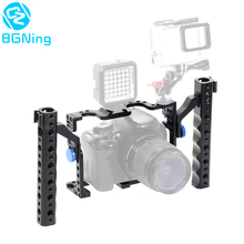 BGNing Aluminium Camera Cage for Panasonic GH5 /GH4 /GH3 Frame Bracket with Cold Shoe Extended Dual Handheld Grips Handles Mount