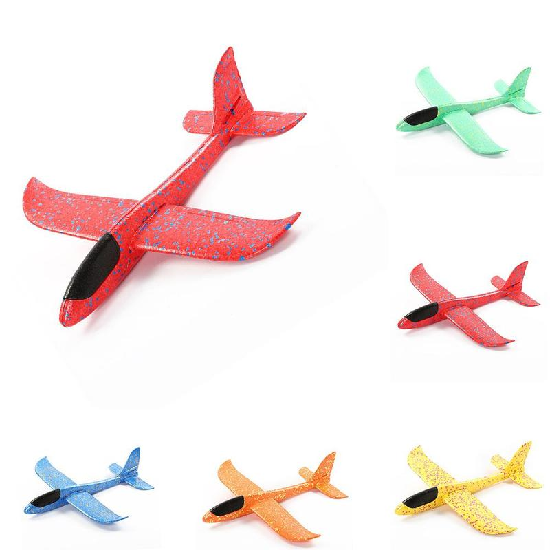 Hot Sell Epp Foam Hand Throw Airplane Outdoor Launch Glider Plane Kids 48cm Interesting Aeroplane Model Game Gift Toys 1pcs(China)