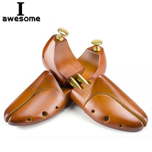1 Pair Guger-tree Adjustable Shoe Trees Solid Wood Men's Shoe Support Knob Shoe shaping Women's Shoe's Care Stretcher Shaper lhbl 1 pair 12 1 2 inch boot stretcher shaper shoe tree with handle