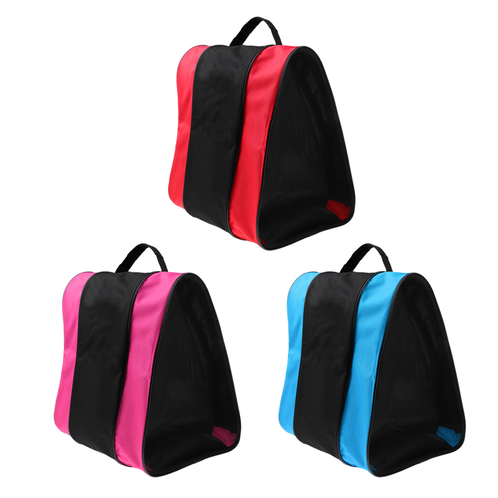 Portable Inline Roller Skating Boots Bag Waterproof Nylon Ice Hockey Skate Shoes Storage Bag Handbag Sports Equipment 3 Color