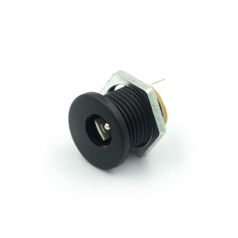 10pcs/lot DC-022 DC Head With Nuts 5.5mm Inner Diameter Needle 2.1mm DC Power Socket 5.5-2.1mm