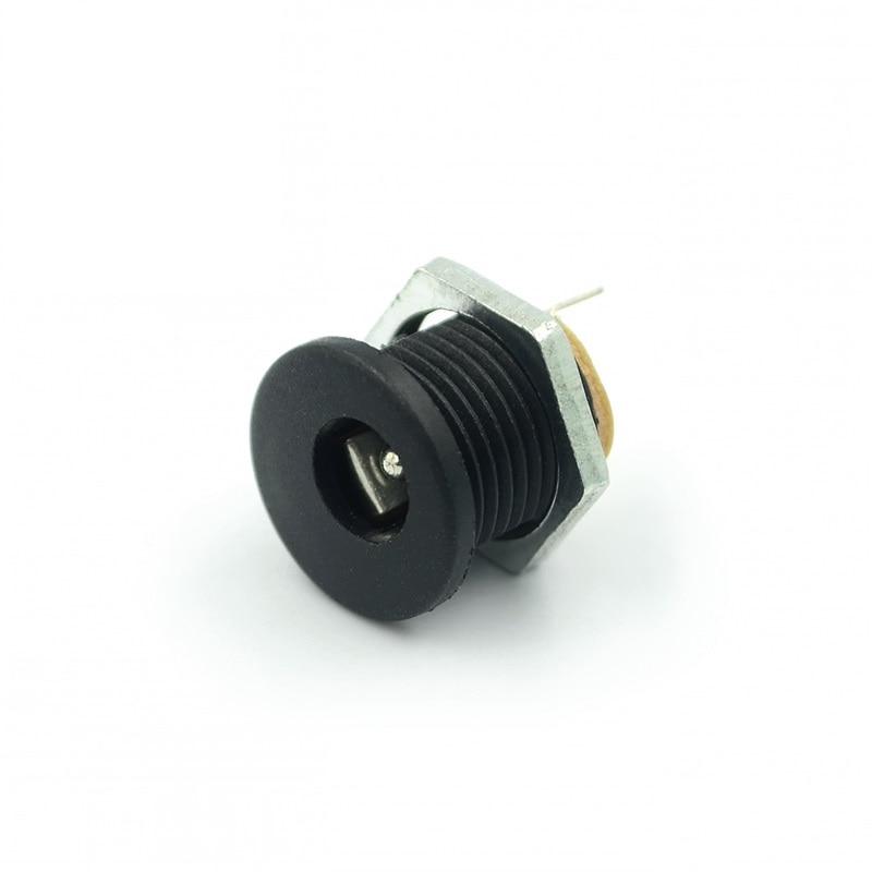 10pcs/lot DC-022 DC Head With Nuts 5.5mm Inner Diameter Needle 2.1mm DC Power Socket 5.5-2.1mm
