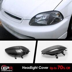 Для Honda EK9 Civic 96-98 углерода глянцевый OE головной светильник блокировать светильник крышка RHS наружные комплекты 1 шт.