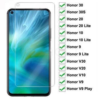 Перейти на Алиэкспресс и купить 9H Защитное стекло для Honor 20 10 9 Lite закаленное защитное стекло для экрана Honor 30 30S V30 V20 V10 V9 Play прозрачная стеклянная пленка