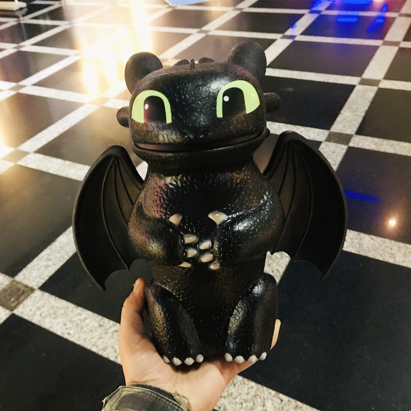 IN STOCK Anime How to Train Your Dragon 3 Toothless Popcorn Bucket Night Fury Doll Toys Gift For Children Adults image