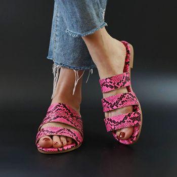 Sandals Snake Non-slip Outdoor Slippers 2020 Women Fashion Wild Wild Beach Shoes Sandals Flat Bottom Ladies Slippers 4