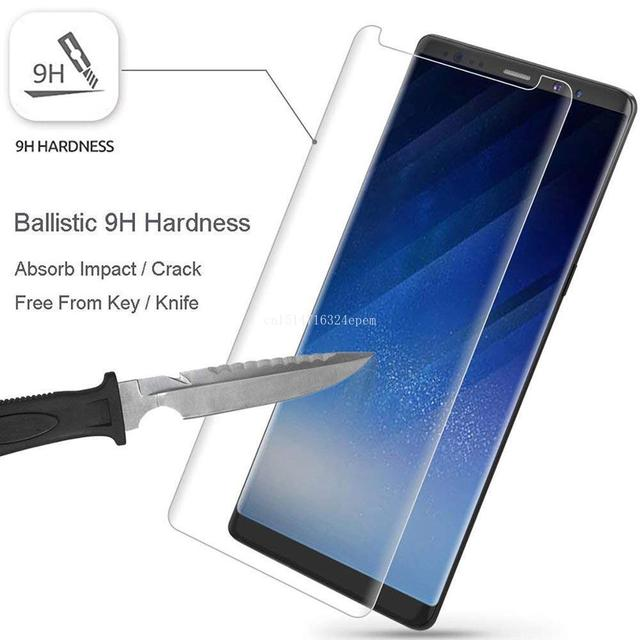 3D Friendly Tempered Glass Screen Protector Cover Samsung Galaxy S7 Edge S8 S9 Plus Note 8 9 Note9 Protective Film Glass Clear
