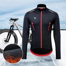 Santic Men Cycling Jackets Winter Fleece Thermal Windbreaker MTB Coat Bike Jacket Warm Breathable Reflective Asian Size K9M5112R
