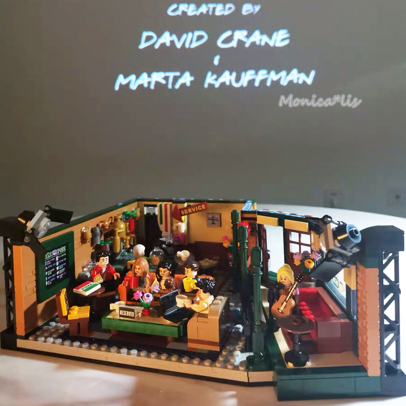 2019 klassische TV American Drama Freunde Zentralen Perk Cafe Fit Legoinglys Freunde Modell Baustein Ziegel 21319 Spielzeug Geschenk Kind