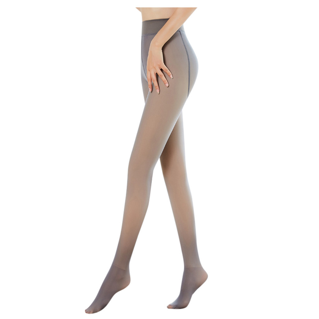 Meia-calça engrossada original quente fleece meia-calça pernas