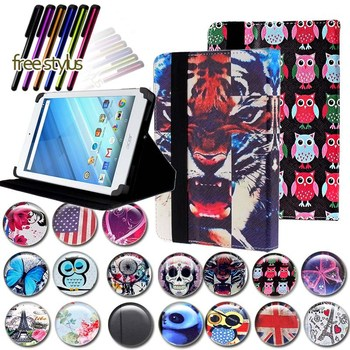 KK&LL For Acer Iconia One 8 inch B1-810 B1-811 B1-850 B1-860 - Leather Smart Tablet Stand Folio Cover Case + Free stylus фото