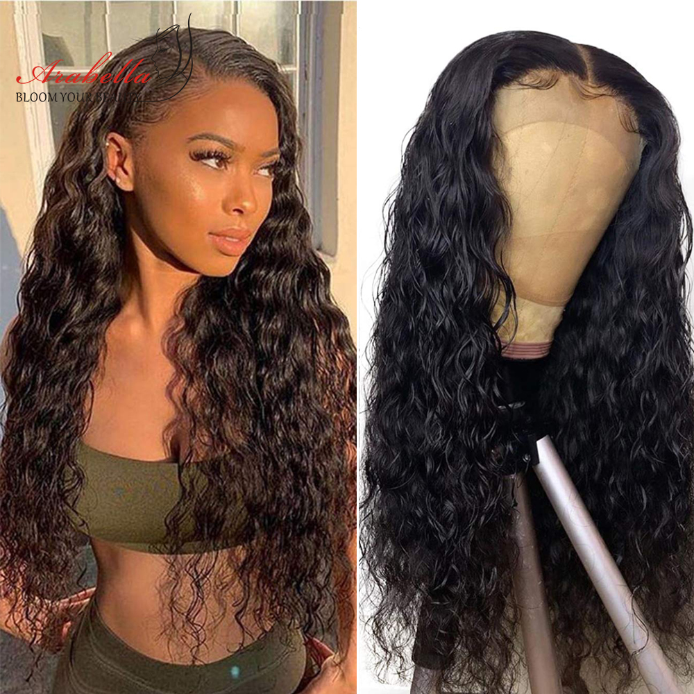 Water Wave Lace Wigs 13x4 Lace Front Wig 200% Density Pre Plucked Wig    Hair Lace Wig Arabella 1