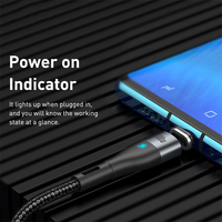 Baseus 100W Magnetic Cable Type C to Type C Cable for Redmi Note 9s Huawei P40 PD Fast Charging for MacBook Pro Micro USB Cable