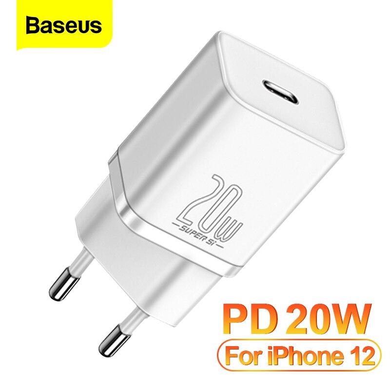 Baseus PD 20 Вт Quick Charge QC3.0 QC USB кабель USB Type-C с функцией быстрой зарядки зарядное устройство для iPhone 12 Pro Samsung Xiaomi стены мобильный телефон зарядное у...