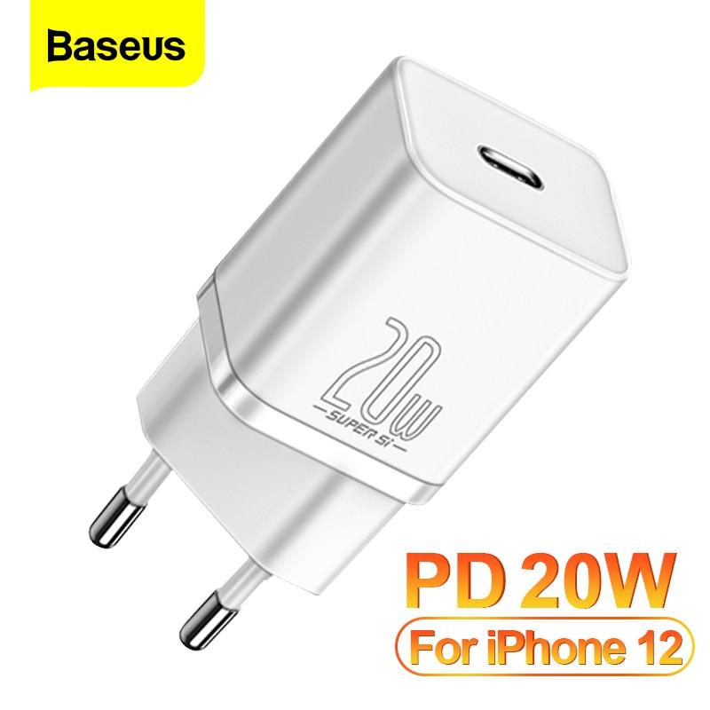 Baseus pd 20w carga rápida qc3.0 qc usb tipo c carregador de carregamento rápido para iphone 12 pro samsung xiaomi parede carregador do telefone móvel