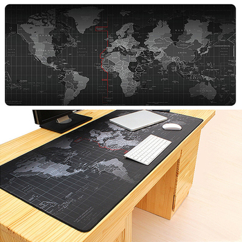 90*40cm Extra Large Natural Rubber Anti-Slip Mouse Pad Mat World Map Keyboard Pad For PC Laptop Computers Gamer Gaming Mousepad 1