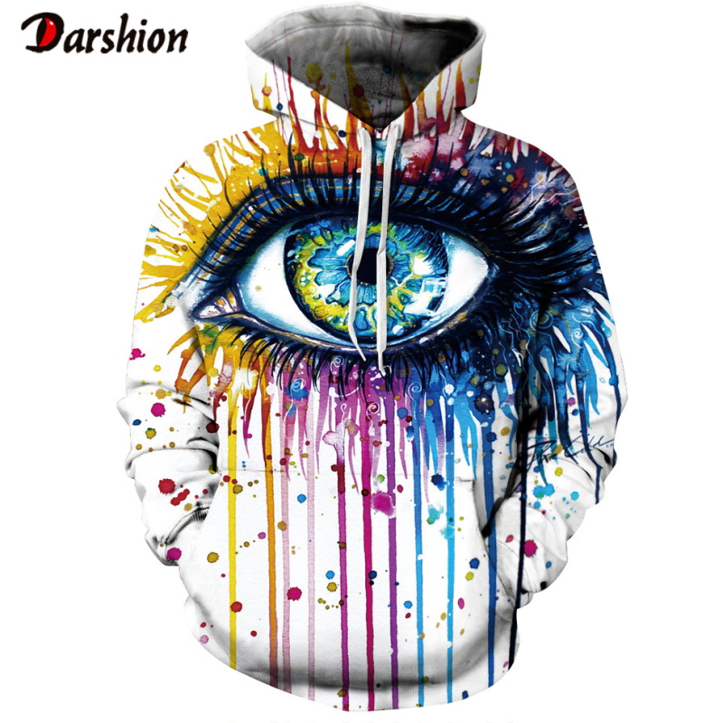 Winter Men's Hoodies Sweatshirt Men 3D Colorful Eyes Brand Plus Size XXS-4XL Printed Hoodie To Men Unisex Pullovers Dropshipping