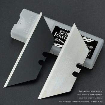 10 sztuk specjalne ostrza do noża materiał stalowy nóż introligatorski ostrza trapezowe wymiana DIY rzemiosło artystyczne wycinarka tanie i dobre opinie BENGU Metalworking CN (pochodzenie) Utility Knife SK5 Steel 60# Steel