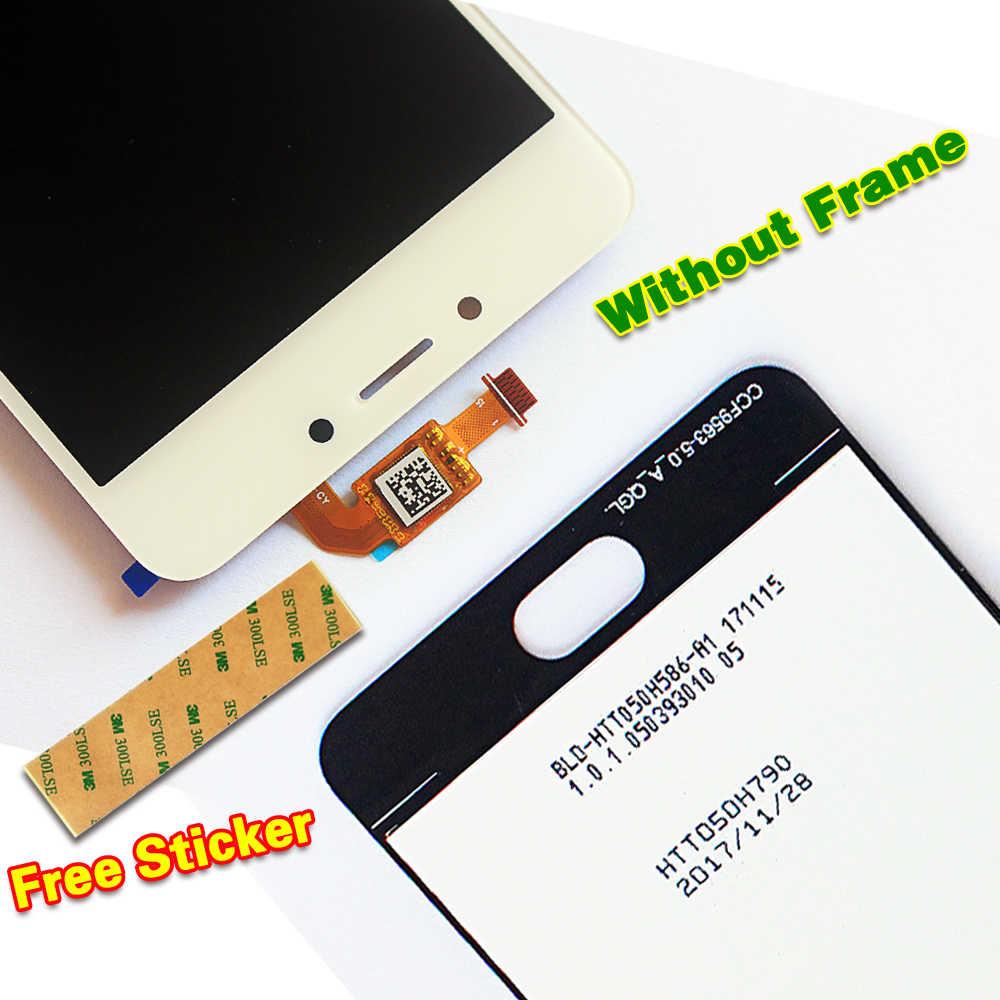 100% протестированный 5,0 дюймовый ЖК-дисплей для Meizu M5C для Meilan 5C кодирующий преобразователь сенсорного экрана в сборе 1280*720 рамка с бесплатными инструментами