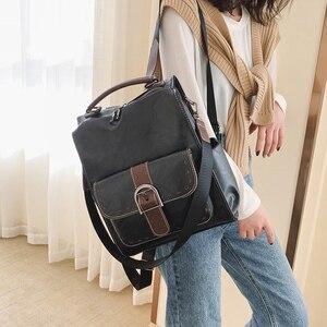 Image 3 - Модный женский рюкзак 2021, вместительные женские рюкзаки из искусственной кожи, Повседневная сумка для школы и колледжа, винтажная классическая сумка на плечо