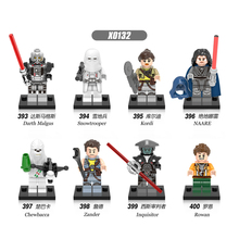 X0132 8PCS Set Building Blocks Super Heores Snowtrooper Inquisitor Kordi Darth Malgus Zander Bricks Figure Children Gift Toys