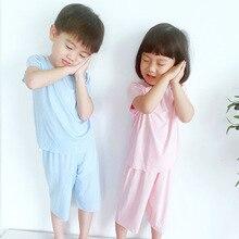 Boneless pajamas infants summer female male modal take household air conditioning