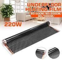 80x200 см 220 Вт инфракрасный теплый пол нагревательная пленка Электрический высококачественный углеродное волокно Электрический нагреватель...
