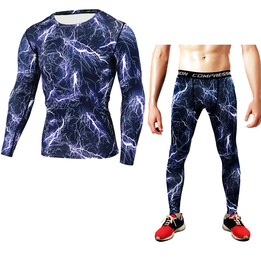 Long Sleeve T-shirt Suit Bodysuit Men's Sports Cool Outdoor Camouflage Quick Dry Sweatshirt Yoga Clothing