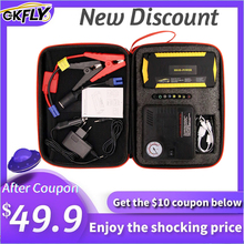 GKFLY 12V 16000mA Multifunction Jump Starter Air Pump Compressor Emergency Starting Device Car Booster For Petrol Diesel Car