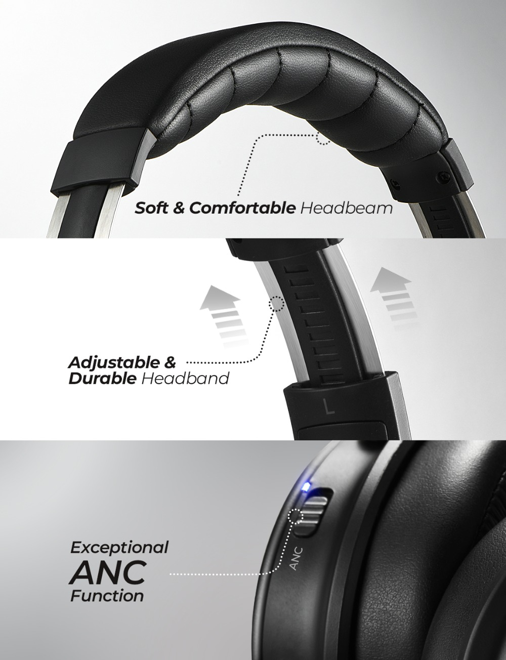 Mpow H17 Wireless Headphone Bluetooth ANC Headphones Fast Charging Active Noise Cancelling Headset For Huawei P30 Pro iPhone X 6 (6)
