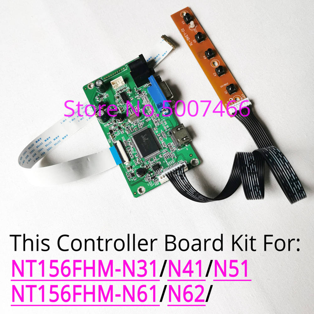 Für NT156FHM /N31/N41/N51/N61/N62 notebook PC LCD screen 1920*1080 30 pin WLED EDP HDMI VGA display controller driver board kit