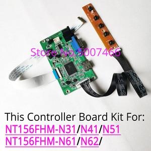 Image 1 - Tela lcd para nt156fhm n31/n41/n51/n61/n62, notebook, 1920*1080 placa de driver de controlador vga, display de 30 pinos wled edp hdmi