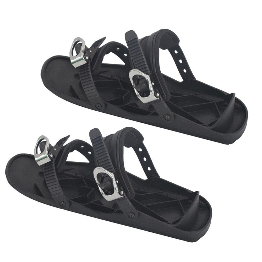2019 новые мини лыжные коньки для снега, короткая Лыжная обувь, высокое качество, регулируемые крепления, портативная Лыжная обувь, регулируе...