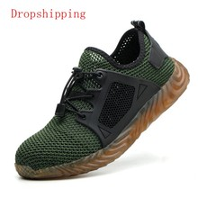 Dropshipp Indestructible Ryder Shoes Men And Women Steel Toe Air Safety Boots Puncture-Proof Work Sneakers Breathable Shoes(China)
