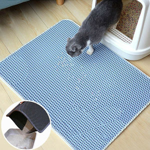 40x50cm Double Waterproof Layer Cat Pet Litter Tray Mat EVA Rectangle 50*60cm Clean Non-Slip Bath Mats