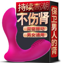 Unisex female Gay Sex toy Charging silicone vibrator Prostate massager Male and female anal toy Anal enlarger Adult Products(China)