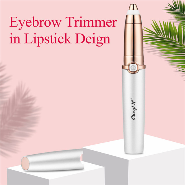 USB Rechargeable Eyebrow Trimmer for Women Lipstick Brows Pen Hair Remover Epilator Shaver Razor Instant Painless Makeup Device 5
